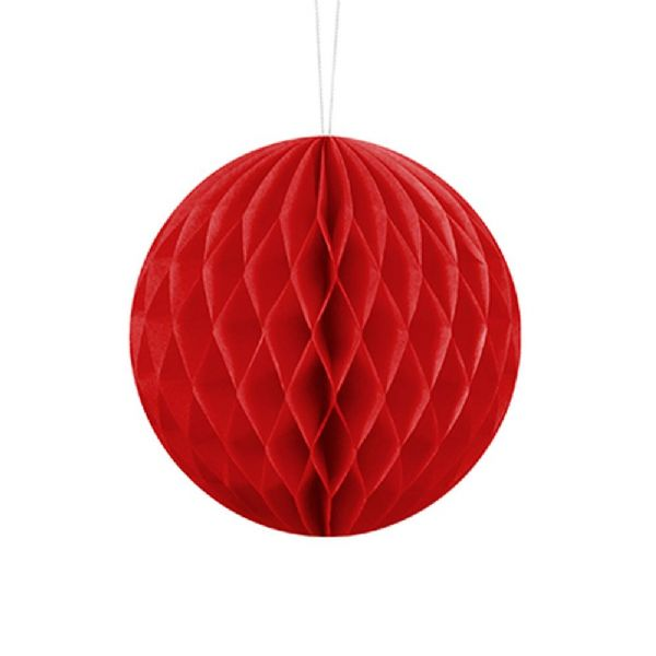 10cm Honeycomb Ball - Red